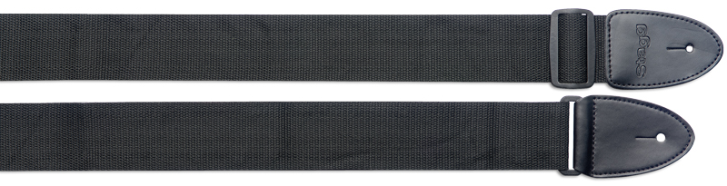 STAGG SN-5 BLK//L Nylon Gitarrengurt 50mm schwarz