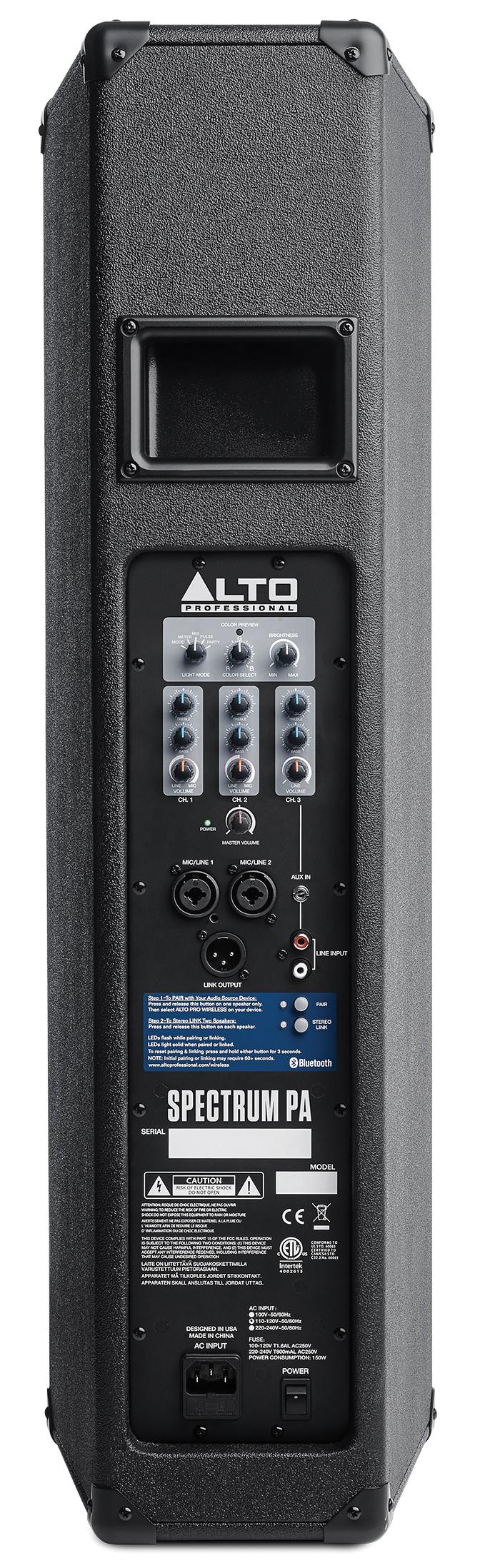 ALTO Spectrum PA aktiv 200Watt/3x6,5Zoll PA-Lautsprecher mit LED ...