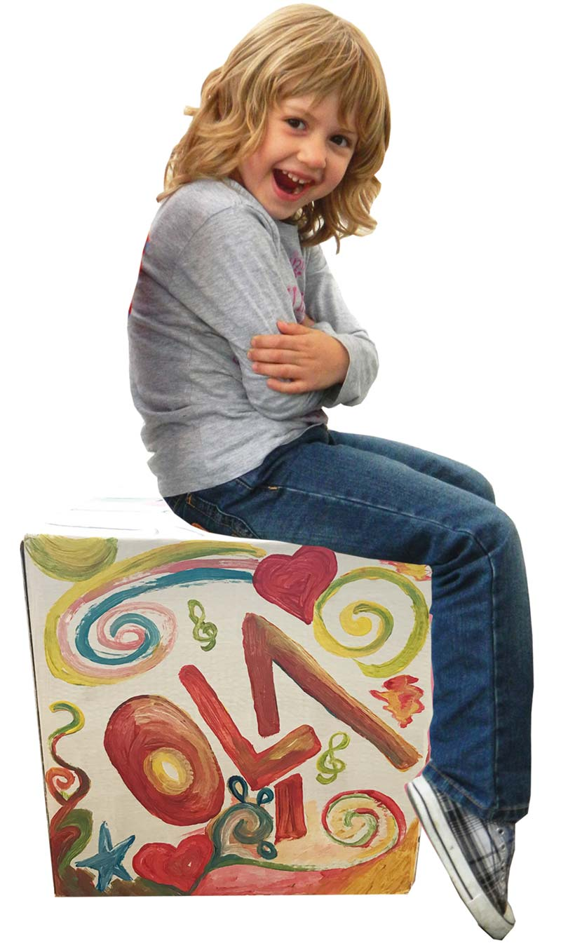 baff beatbox pappe la papp trommelhocker karton cajon schlagzeug. Black Bedroom Furniture Sets. Home Design Ideas