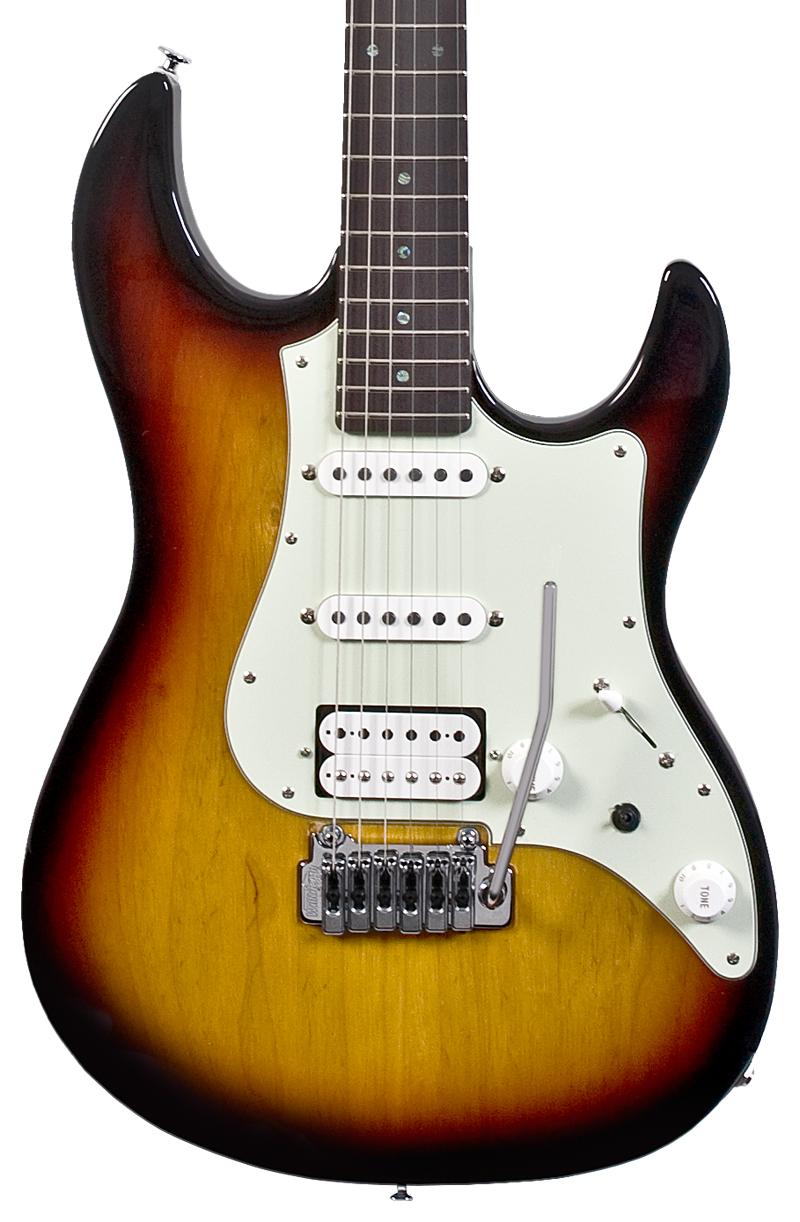 FGN Expert Odyssey RW 3TS E-Gitarre inkl. Koffer, 3-tone sunburst ...