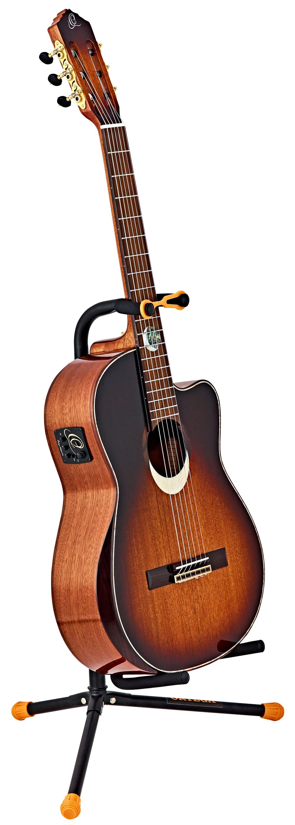 Universal Stahl Akustik Gitarrenständer E-Gitarre Bass Stativ Halter Faltbar