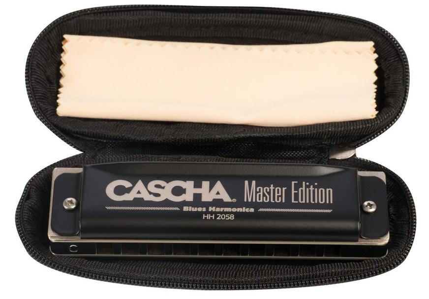 Case und Pflegetuch Cascha Special Blues Mundharmonika in C-Dur inkl