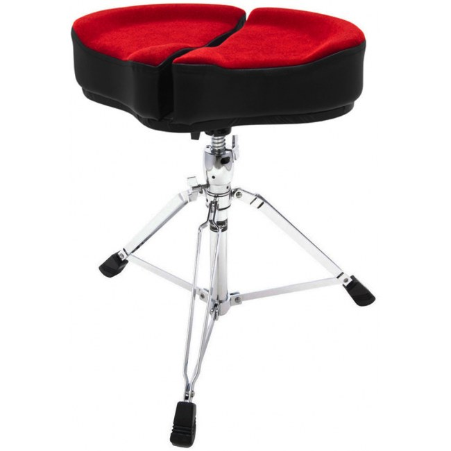 AHEAD SPG-R3 Red Spinal-G Drum Throne Drumhocker, Sattel Veloursitz, rot