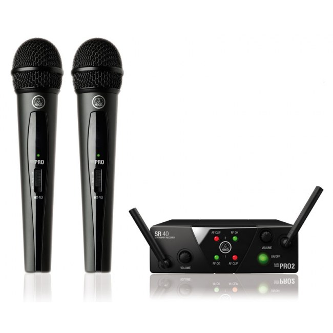 AKG WMS40 Mini Dual Vocal Handheld Set UHF-Drahtlossystem