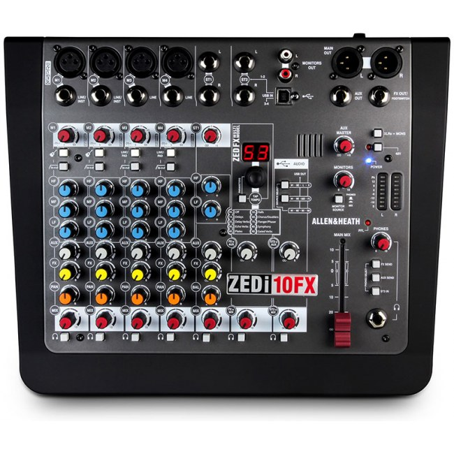 ALLEN&HEATH ZEDi-10 FX USB Kompaktmischpult mit 4x4 Audio-Interface