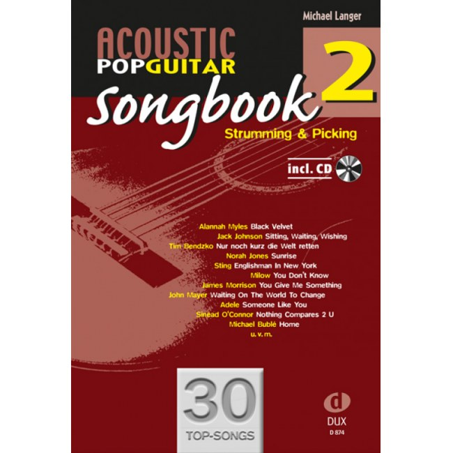 ANCORA Acoustic Pop Guitar Songbook 2 /CD Strumming und Picking