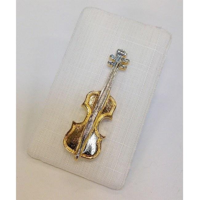 ART OF MUSIC Anstecker Geige gross Gold Modeschmuck