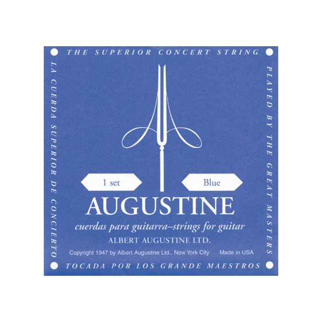 AUGUSTINE Classic Blue High Tension E1-E6 Nylon-Saiten für Konzertgitarre