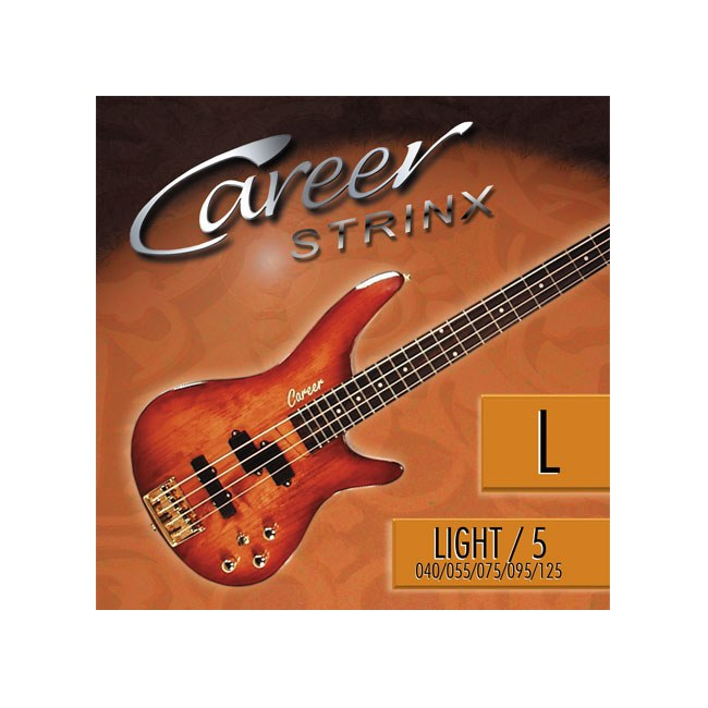 CAREER Strings Electric Light 5-Saiter 040-125 Nickel Plated Steel. Long Scale. Saiten für E-Bass