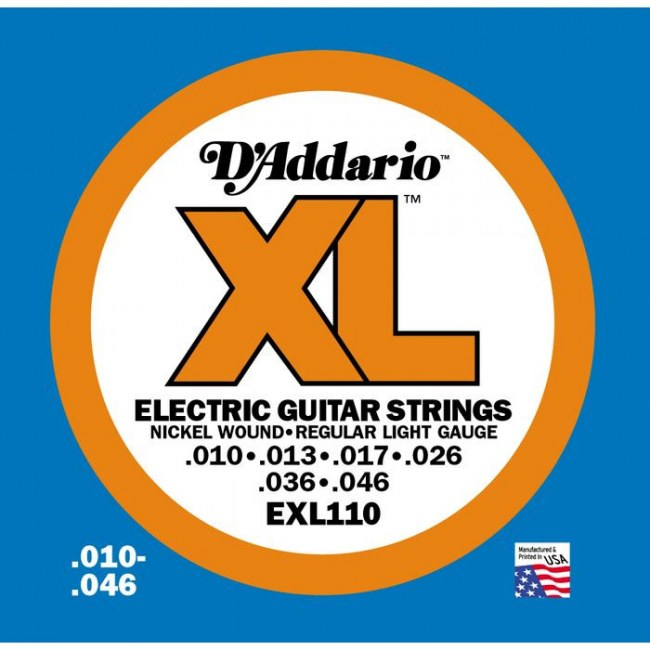 DADDARIO EXL110 Regular Light 010-046 Nickelplated Steel Round Wound. Saiten E-Gitarre