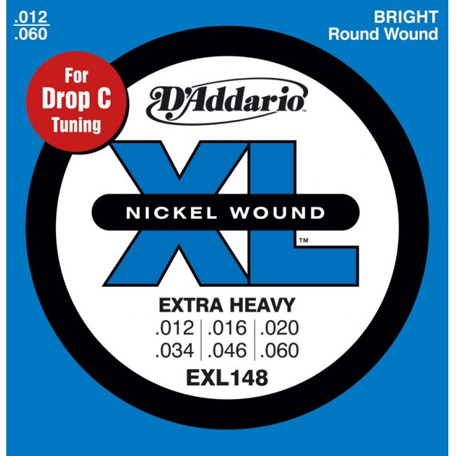 DADDARIO EXL148 Extra Heavy 012-060 Nickelplated Steel Round Wound. Saiten E-Gitarre