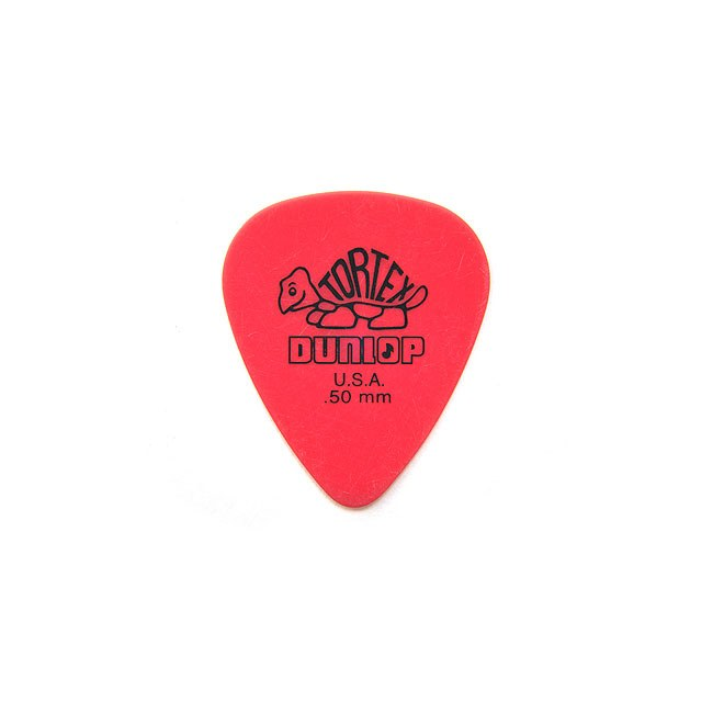 JIM DUNLOP 418R Tortex Standard Player 0,50mm Plektrum, rot (Stück)
