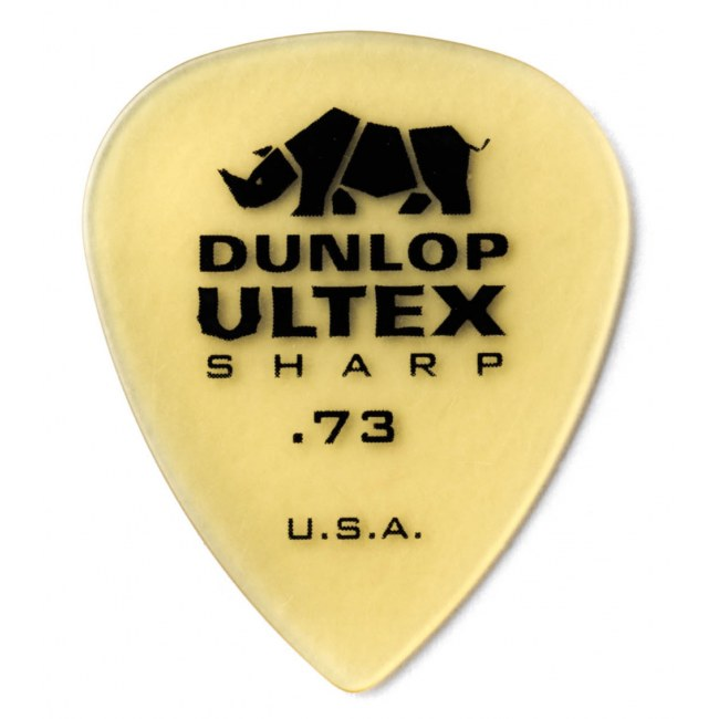 JIM DUNLOP 433 Ultex Sharp Player 0,73mm Plektrum, tequila-gold (Stück)