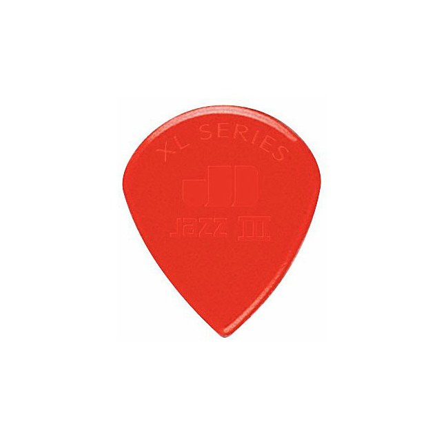 JIM DUNLOP 47R-N Nylon Jazz III XL sharp 1,38mm Plektrum, rot (Stück)