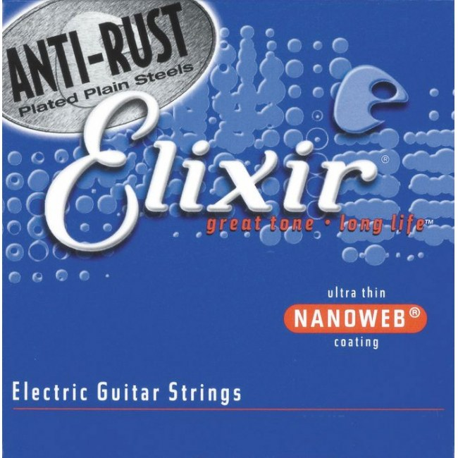 ELIXIR 12077 Anti Rust Electric LightHeavy 010-052 Nanoverb Coating. Saiten für E-Gitarre.