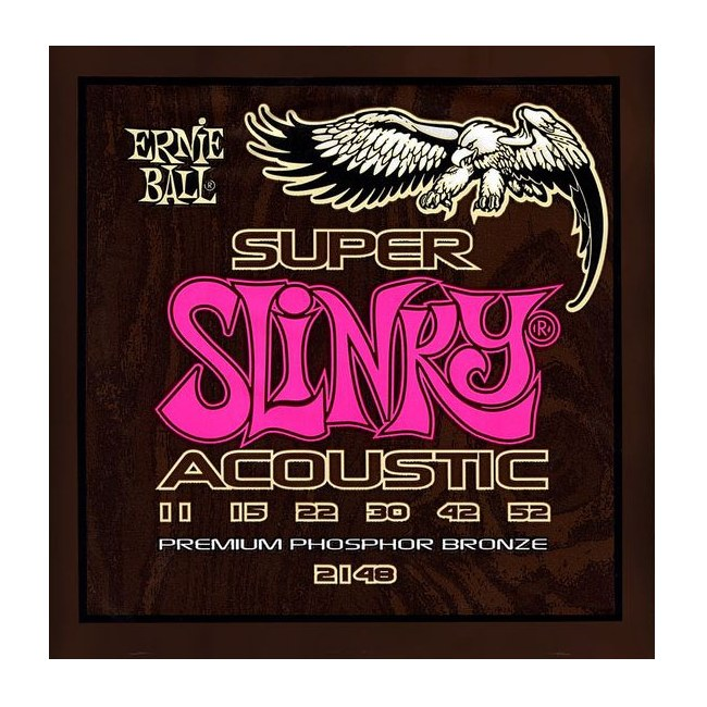 ERNIE BALL 2148 Acoustic Slinky Light 011-052 Phosphor Bronze, Saiten für Westerngitarre