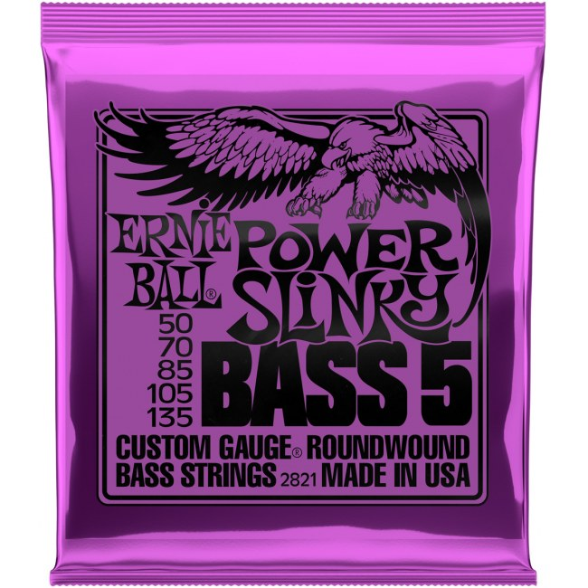 ERNIE BALL 2821 Slinky Bass Extra 050-135 Nickelwound Steel. Saiten für E-Bass