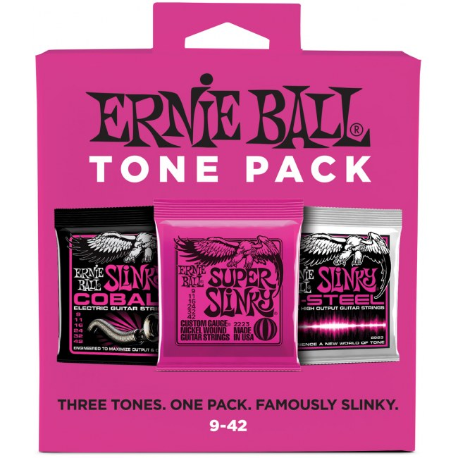 ERNIE BALL 3333 Electric Tone Pack Regular 009-042 3-Pack, Saiten für E-Gitarre