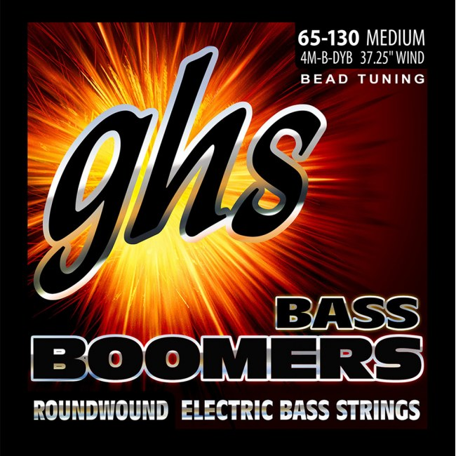 GHS 3045 Bass Boomers Medium 065-130 BEAD Tuning Nickel Roundwound Steel. Saiten für E-Bass