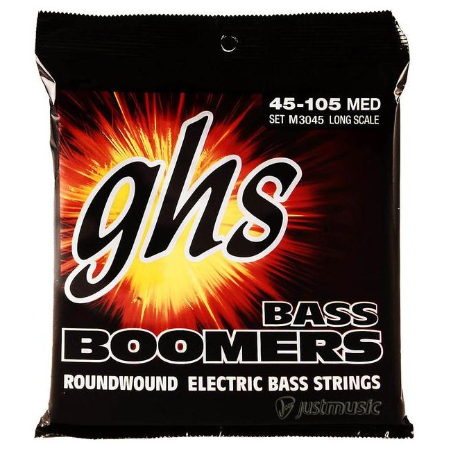 GHS 3045 Bass Boomers Medium 045-105 Nickel Plated Steel. Saiten für E-Bass