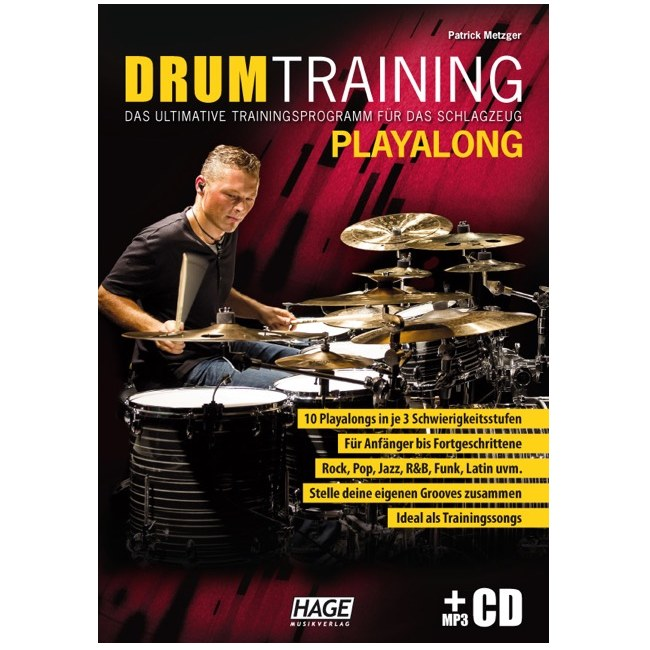 HAGE Drum Training Playalong /MP3-CD Trainingsprogramm für das Schlagzeug