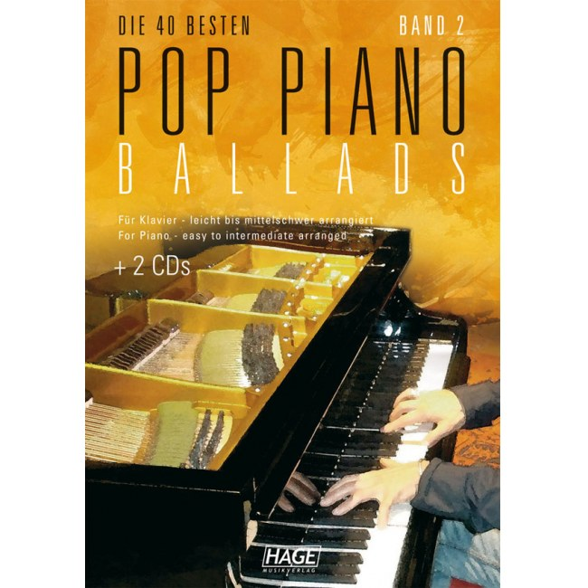 HAGE Pop Piano Ballads 2 /CD EH 3759, 40 bekannte Pop Balladen