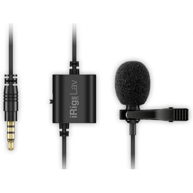 IK MULTIMEDIA iRig Mic Lav Lavalier Mic-to-iPhone-Interface