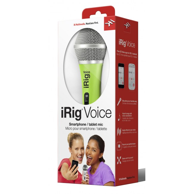 IK MULTIMEDIA iRig Voice GN Mic-to-iPhone Interface, grün