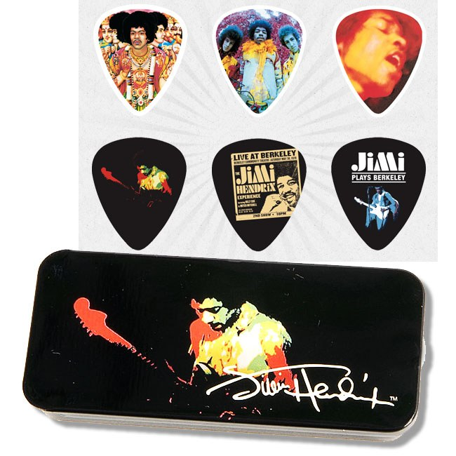 JIM DUNLOP Hendrix Collector Band of Gypsys Box Collector Plektren, heavy (6 Stück) - JHPT04H