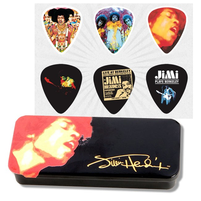 JIM DUNLOP Hendrix Collector Electric Ladyland Box Collector Plektren, heavy (6 Stück) - JHPTR03