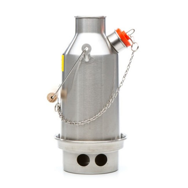 KELLY KETTLE Small Trekker Kelly Kettle Kessel 0,6 Notfall-Ausrüstung (Stainless steel)