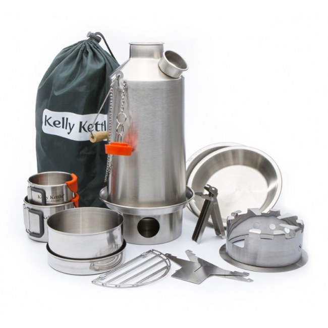 KELLY KETTLE Ultimate Base Camp Kit Notfall-Ausrüstung (Stainless steel)