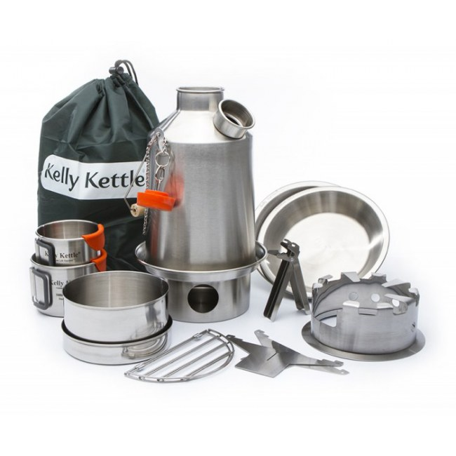 KELLY KETTLE Ultimate Scout Kit Notfall-Ausrüstung (Stainless steel)