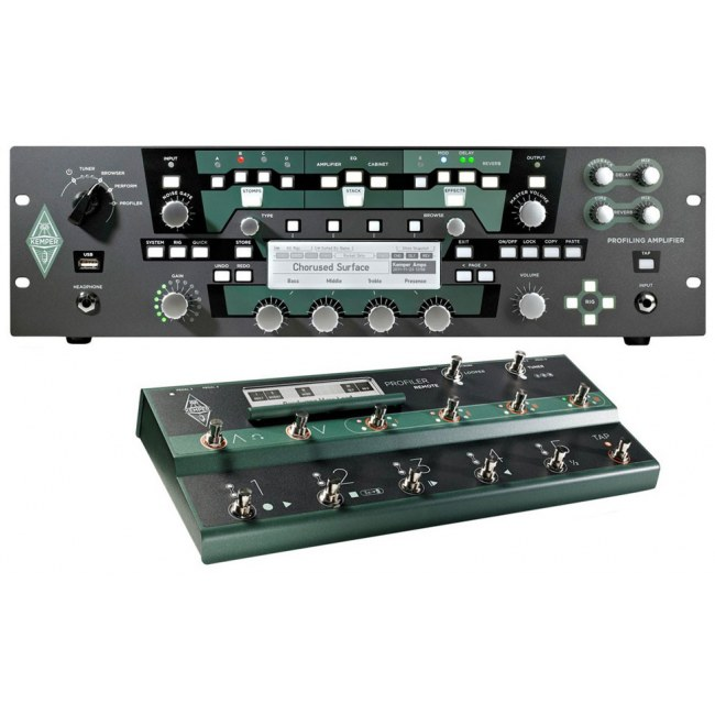 KEMPER Profiler PowerRack + Profiler Remote (SET) Digitaler Gitarrenverstärker