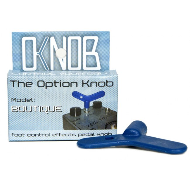 OPTION KNOB OkKnob Boutique Potentiometeraufsatz für Bodeneffekte, blau