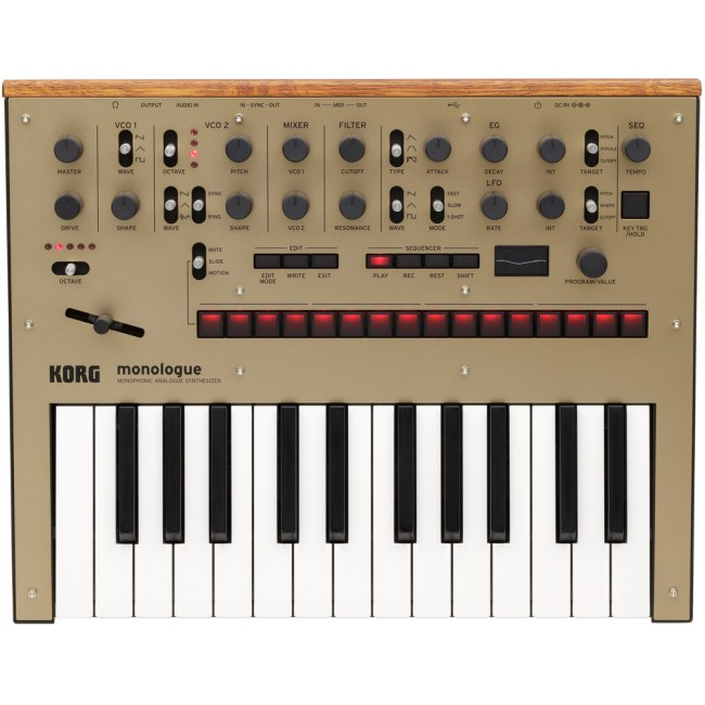 KORG monologue GD Analoger Synthesizer, gold