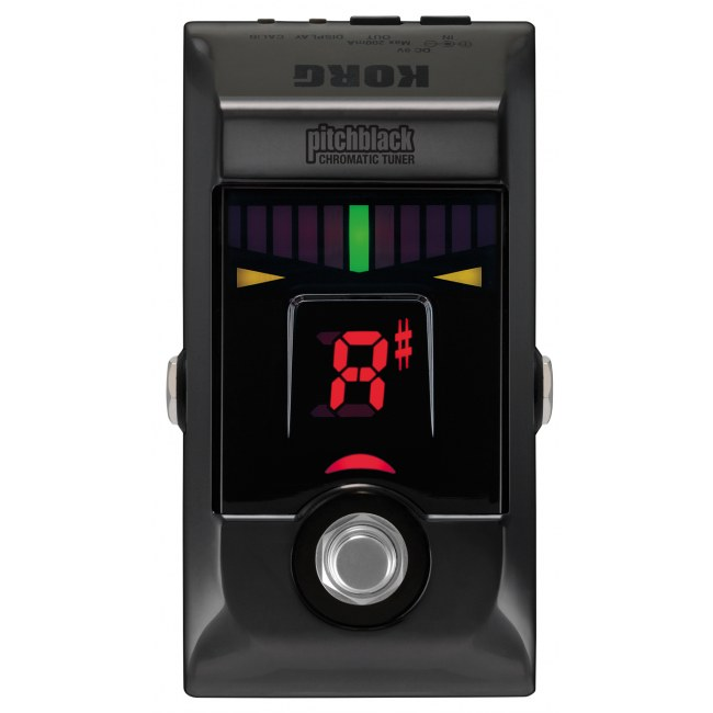 KORG Pitchblack Floor Tuner BC Boden-Stimmgerät, black chrome
