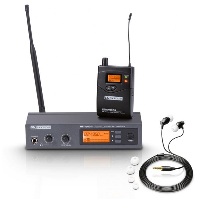 LD-SYSTEMS MEI-1000 G2 UHF IEM Drahtloses In-Ear Monitorsystem.