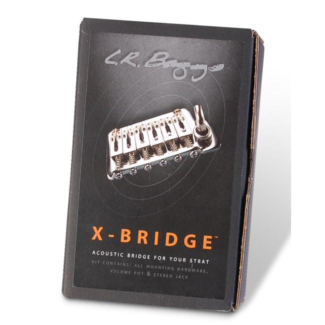 L.R. BAGGS XB-FXC Chrome Piezo X-Bridge (fixed) Piezo-Brücke Strat-Style-Gitarren, USA-spacing