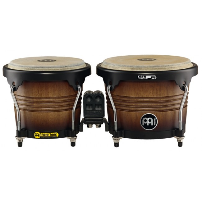 MEINL FWB190ATB-M Free Ride Holz Bongo, antique tobacco burst, matt