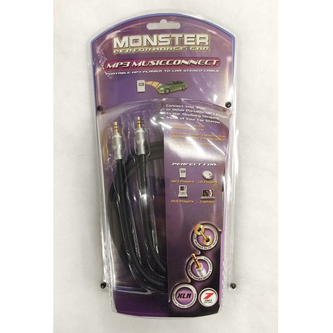 MONSTER MP3 Music Connect 2M Linekabel 3,5mm KLs-3,5mm KLs 2m (MO125071)