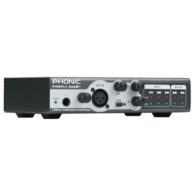 PHONIC Firefly 302 Plus FireWire Audio-Interface inkl. Cubase LE
