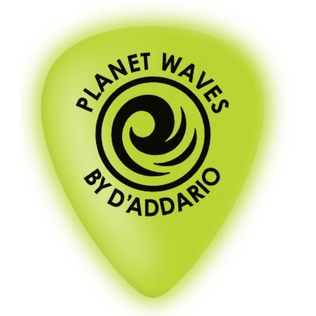 PLANET WAVES 1CCG6-10 Cellu-Glo heavy (10er Pack) Plektren, neon green