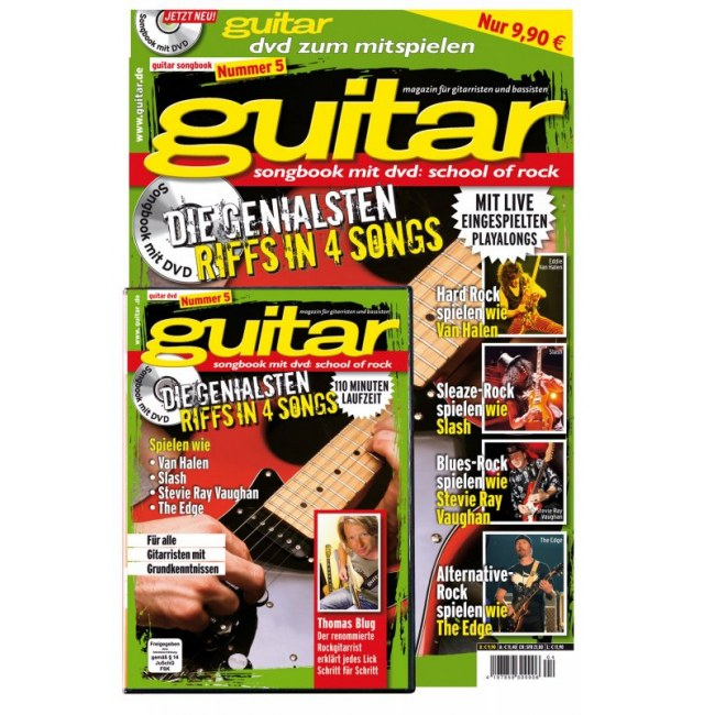 PPVMEDIEN guitar Songbook DVD V.5: School of Rock 32 Seiten Notenheft mit 110-Minuten-Video