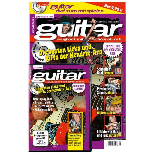 PPVMEDIEN guitar Songbook DVD V.6: School of Rock 32 Seiten Notenheft mit 131-Minuten-Video
