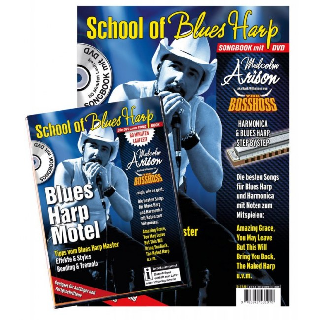 PPVMEDIEN School of Blues Harp /DVD Songbook mit DVD