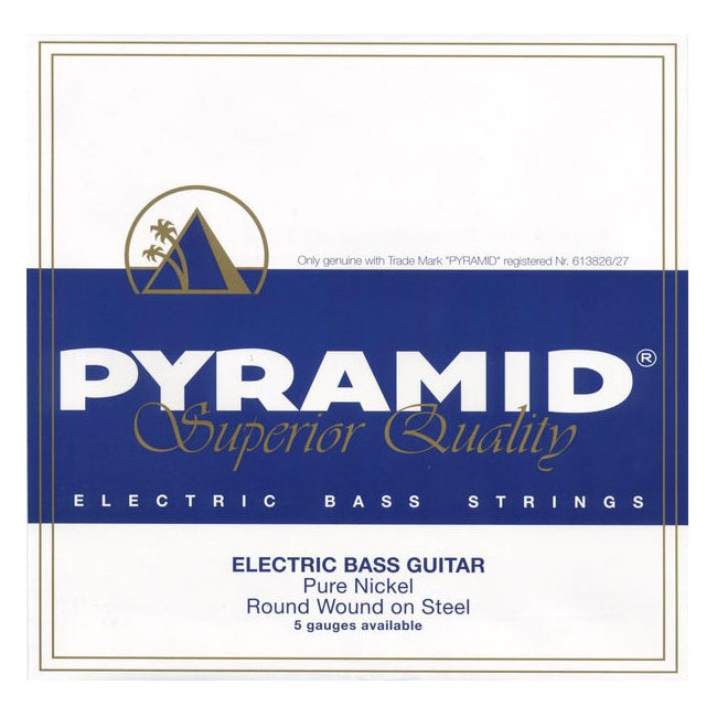 PYRAMID 797100 PNRW Bass 4 Drop C Heavy 055-126 Pure Nickel Round Wound. Saiten für E-Bass