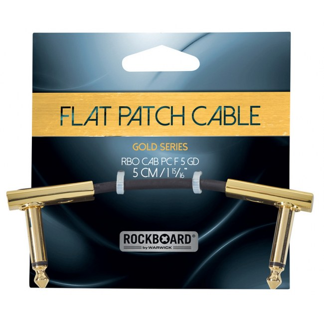 ROCKBOARD CAB PC F 5 GD Gold Series Flat Patch Cable 5 cm (1 15/16Zoll)