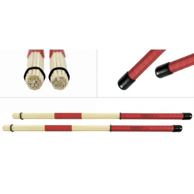ROHEMA 61368/9 Tape Bamboo Rods (Paar) Holz Rod Drumsticks