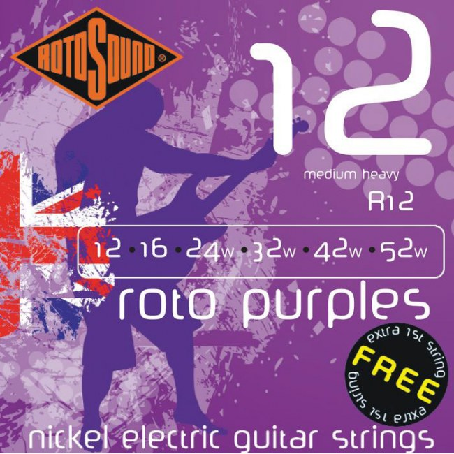 ROTOSOUND R-12 Roto Purples Regular 012-052 Nickel plated Steel. Saiten für E-Gitarre
